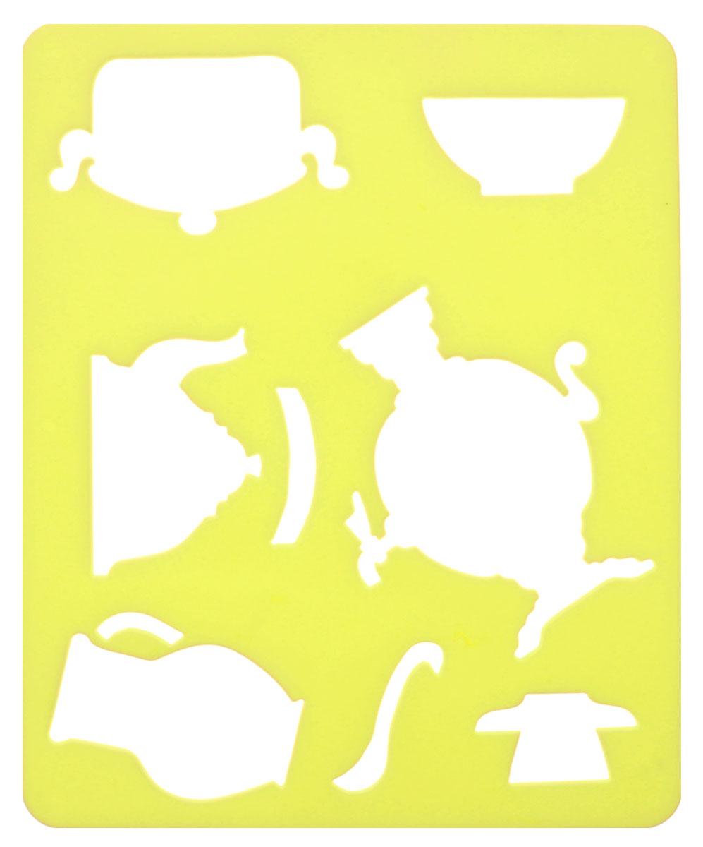 Луч Трафарет прорезной Посуда цвет желтый