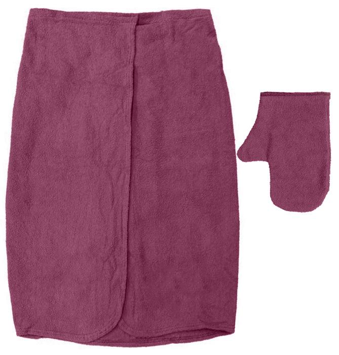 Махровый комплект для мужчин Банные штучки, цвет: бордовый, 2 предмета32251Махровый комплект для мужчин Банные штучки состоит из специальной накидки и рукавицы. Благодаря резинке накидка имеет универсальный размер, застегивается на пуговицы. Ее также можно использовать в качестве подстилки на лавку или как полотенце. Махровая ткань быстро впитывает влагу, обеспечивая комфорт во время использования. Специальная рукавица защитит ваши руки от ожогов во время нахождения в парилке, может использоваться как мочалка. Комплект идеален для бани, сауны, spa, хамама. Размер накидки: 140 см х 60 см. Размер рукавицы: 28 см х 21 см.