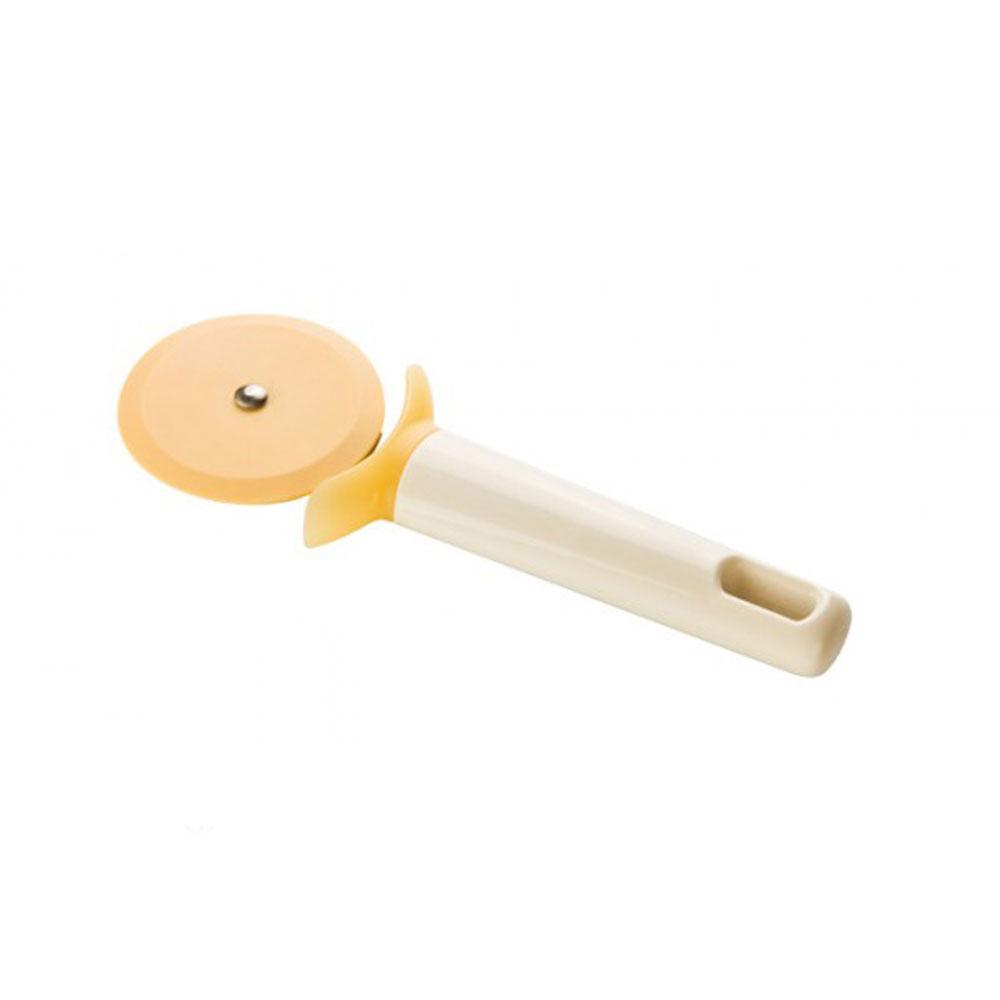 Нож для пиццы Tescoma Delicia, длина 18,5 см630022Нож Tescoma Delicia изготовлен из нейлона - материала, к которому не прилипает пища. Он предназначен для нарезания пиццы. Удобная пластиковая ручка не позволит выскользнуть изделию из вашей руки, сделает приятным процесс приготовления любого блюда. На ручке имеется небольшое отверстие, за которое нож можно подвесить в любом удобном для вас месте. Можно мыть в посудомоечной машине. Диаметр лезвия: 6,5 см. Общая длина ножа: 18,5 см.