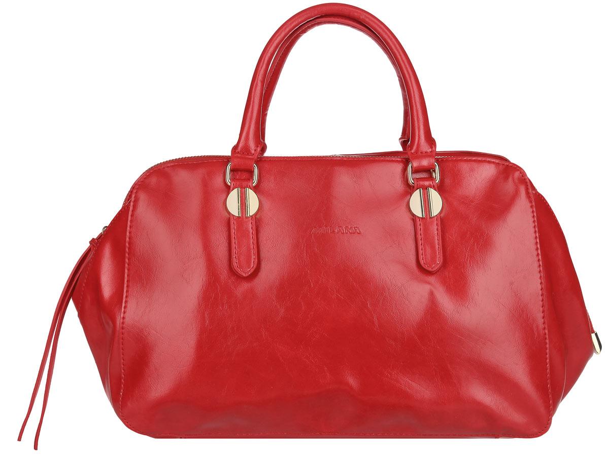 Сумка женская Milana, цвет: красный. 151608-2-140151608-2-140Стильная женская сумка Milana выполнена из экокожи, оформлена металлической фурнитурой с символикой бренда. Изделие закрывается на молнию. Внутри сумки размещен врезной карман на молнии и два накладных кармана для телефона и прочих мелочей. Снаружи, в тыльной стенке сумки, расположен врезной карман на молнии. Изделие оснащено двумя практичными ручками и съемным плечевым ремнем, которые позволят носить сумку, как в руках, так и на плече. Длина плечевого ремня регулируется при помощи пряжки. Основание ручек дополнено металлической фурнитурой. Дно изделия оснащено металлическими ножками, которые продлят срок службы изделия. Сумка Milana внесет элегантные нотки в ваш образ и подчеркнет ваше отменное чувство стиля.