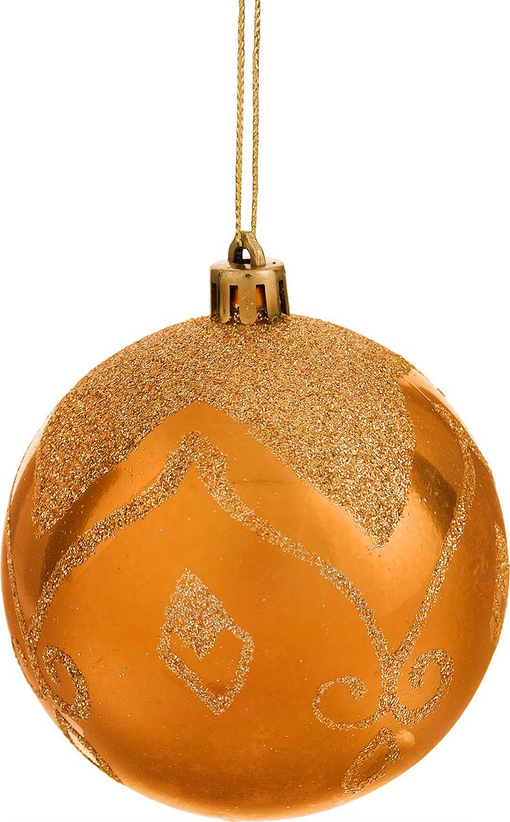 Набор новогодних подвесных украшений Феникс-Презент Шары, цвет: оранжевый, диаметр 8 см, 6 шт26269Набор Феникс-Презент Шары отлично подойдет для декора праздничной ели. В наборе 6 новогодних елочных игрушек, выполненных из пластика в форме шаров и украшенных красивыми узорами из блесток. Игрушки оснащены петельками для подвешивания. Елочная игрушка - символ Нового года. Она несет в себе волшебство и красоту праздника. Создайте в своем доме атмосферу веселья и радости, украшая новогоднюю елку нарядными игрушками, которые будут из года в год накапливать теплоту воспоминаний. Серия новогодних украшений Magic Time принесет в ваш дом ни с чем не сравнимое ощущение праздника.