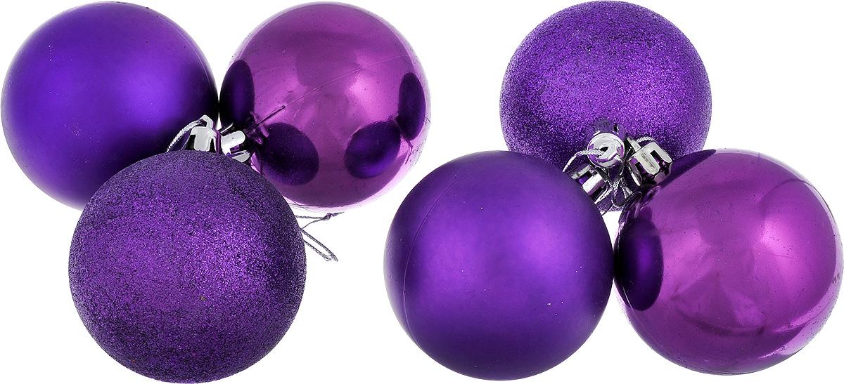 Набор новогодних подвесных украшений EuroHouse Everyday Holiday, цвет: фиолетовый, диаметр 7 см, 6 штЕХ7361_фиолетовыйНабор новогодних подвесных украшений EuroHouse Everyday Holiday прекрасно подойдет для праздничного декора новогодней ели. Набор состоит из 6 пластиковых украшений в виде глянцевых и матовых шаров, а также двух шаров, оформленных блестками. Для удобного размещения на елке для каждого украшения предусмотрена текстильная петелька. Елочная игрушка - символ Нового года. Она несет в себе волшебство и красоту праздника. Создайте в своем доме атмосферу веселья и радости, украшая новогоднюю елку нарядными игрушками, которые будут из года в год накапливать теплоту воспоминаний. Откройте для себя удивительный мир сказок и грез. Почувствуйте волшебные минуты ожидания праздника, создайте новогоднее настроение вашим дорогим и близким.