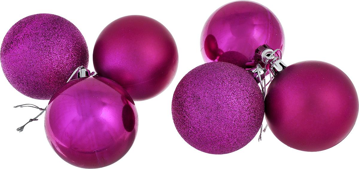 Набор новогодних подвесных украшений EuroHouse Everyday Holiday, цвет: фуксия, диаметр 7 см, 6 штЕХ7361_фуксияНабор новогодних подвесных украшений EuroHouse Everyday Holiday прекрасно подойдет для праздничного декора новогодней ели. Набор состоит из 6 пластиковых украшений в виде глянцевых и матовых шаров, а также двух шаров, оформленных блестками. Для удобного размещения на елке для каждого украшения предусмотрена текстильная петелька. Елочная игрушка - символ Нового года. Она несет в себе волшебство и красоту праздника. Создайте в своем доме атмосферу веселья и радости, украшая новогоднюю елку нарядными игрушками, которые будут из года в год накапливать теплоту воспоминаний. Откройте для себя удивительный мир сказок и грез. Почувствуйте волшебные минуты ожидания праздника, создайте новогоднее настроение вашим дорогим и близким.