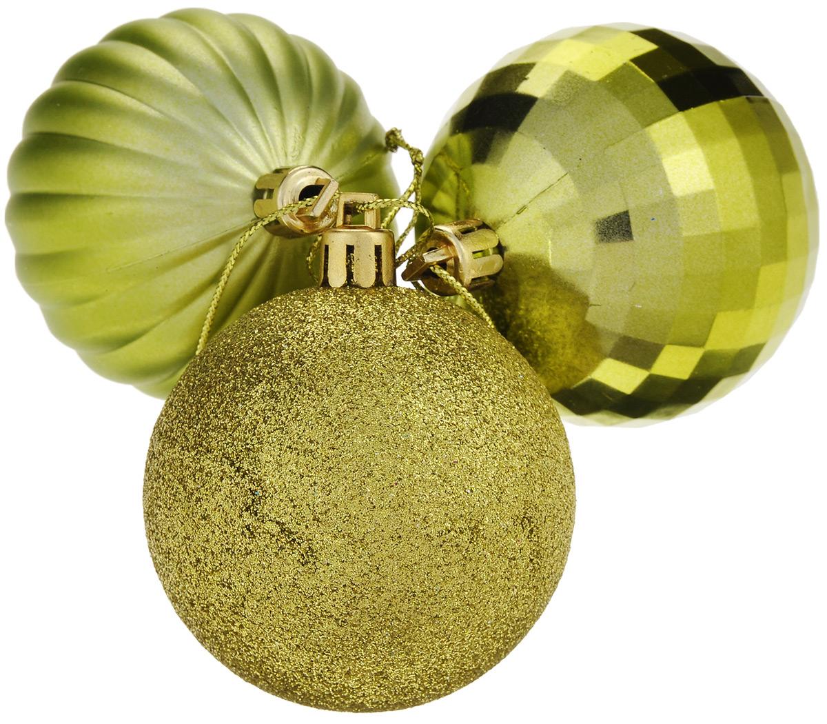 Набор елочных украшений EuroHouse, цвет: желтый, диаметр 6 см, 3 штЕХ10989_желтыйНабор EuroHouse отлично подойдет для декора праздничной ели. В наборе 3 новогодних елочных игрушки, выполненных из пластика в форме шаров с различным дизайном. Игрушки оснащены петельками для подвешивания. Елочная игрушка - символ Нового года. Она несет в себе волшебство и красоту праздника. Создайте в своем доме атмосферу веселья и радости, украшая новогоднюю елку нарядными игрушками, которые будут из года в год накапливать теплоту воспоминаний.