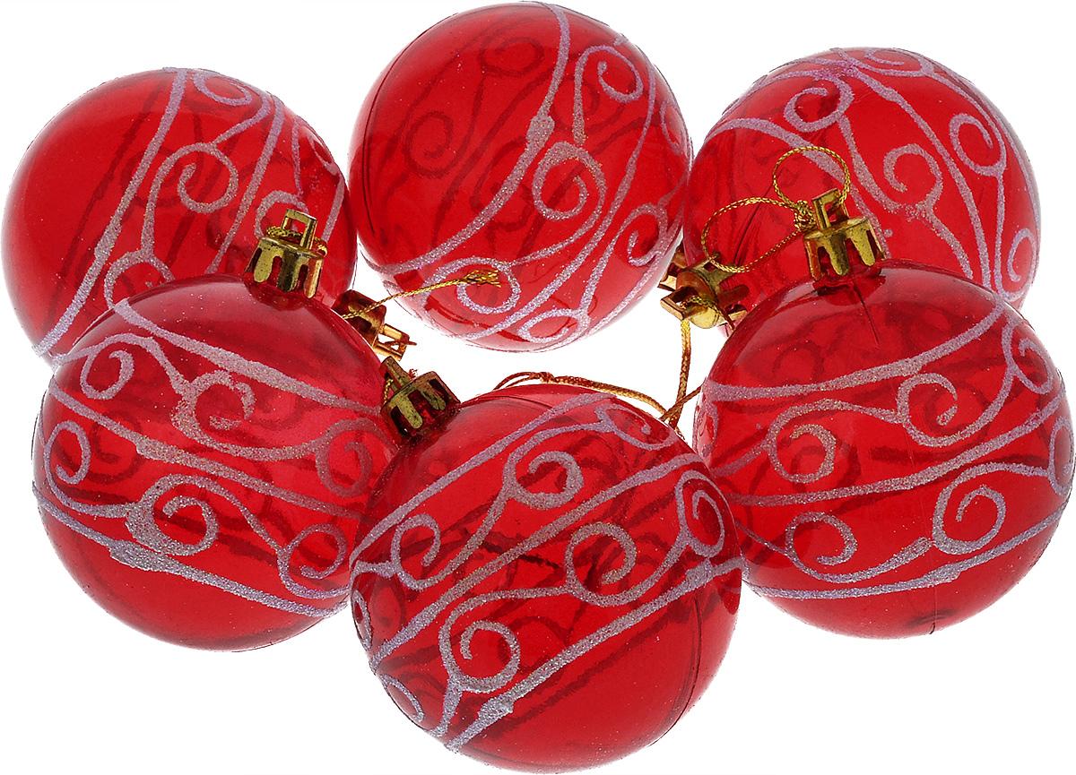 Набор новогодних подвесных украшений Euro House, цвет: красный, диаметр 6 см, 6 шт. ЕХ 9238ЕХ 9238Набор новогодних подвесных украшений Euro House прекрасно подойдет для праздничного декора новогодней ели. Набор состоит из 6 пластиковых украшений в виде прозрачных шаров. Для удобного размещения на елке для каждого украшения предусмотрена петелька, выполненная из текстиля. Елочная игрушка - символ Нового года. Она несет в себе волшебство и красоту праздника. Создайте в своем доме атмосферу веселья и радости, украшая новогоднюю елку нарядными игрушками, которые будут из года в год накапливать теплоту воспоминаний. Откройте для себя удивительный мир сказок и грез. Почувствуйте волшебные минуты ожидания праздника, создайте новогоднее настроение вашим дорогим и близким.