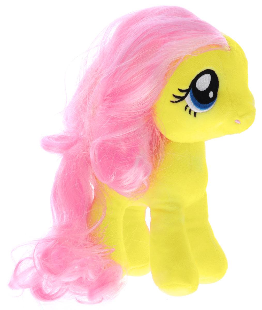My Little Pony Мягкая игрушка Пони Флаттершай цвет желтый 22 смK28180BМягкая игрушка My Little Pony Пони Флаттершай подарит вашему ребенку много радости и веселья. Она выполнена в виде персонажа мультфильма My Little Pony - пони Флаттершай. Игрушка удивительно приятна на ощупь. Она изготовлена из мягкого текстильного материала, глазки вышиты нитками. Чудесная мягкая игрушка принесет радость и подарит своему обладателю мгновения нежных объятий и приятных воспоминаний. Флаттершай - это желтая пони, у которой грива и хвост окрашены в розовый цвет. Глаза Флатти бирюзового цвета. Она очень любит зверей и всячески им помогает. Флаттершай очень добрая и стеснительная. Ее знак отличия - три бабочки. Порадуйте вашего ребенка таким замечательным подарком!