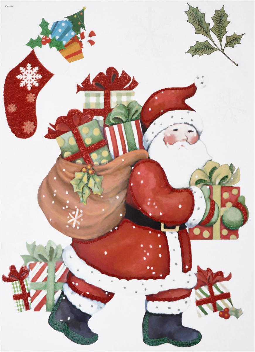 Новогоднее оконное украшение EuroHouse Дед МорозЕХ 11028Новогоднее оконное украшение EuroHouse Дед Мороз поможет украсить дом к предстоящим праздникам. Яркие изображения в виде Деда Мороза, подарков и снежинок нанесены на прозрачную клейкую пленку. Рисунки декорированы цветными блестками. Наклейки изготовлены из ПВХ. С помощью этих украшений вы сможете оживить интерьер по своему вкусу: наклеить их на окно, на зеркало или на дверь. Новогодние украшения всегда несут в себе волшебство и красоту праздника. Создайте в своем доме атмосферу тепла, веселья и радости, украшая его всей семьей. Размер листа: 30 см х 40 см. Размер самой большой наклейки: 29,5 см х 23 см. Размер самой маленькой наклейки: 4 см х 4 см.