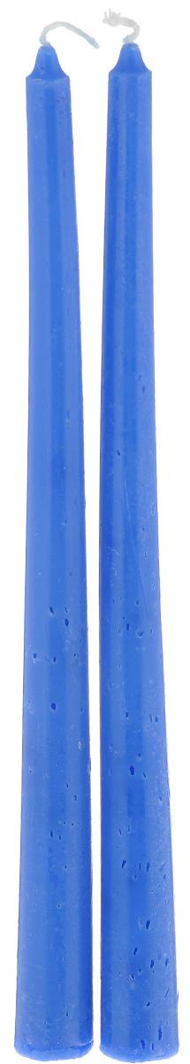 Набор свечей Lunten Ranta, цвет: синий, высота 24,5 см, 2 шт54284_4Набор Lunten Ranta состоит из 2 свечей конической формы, изготовленных из парафина. Такой набор украсит интерьер вашего дома или офиса и наполнит его атмосферу теплом и уютом. Диаметр основания: 2 см.