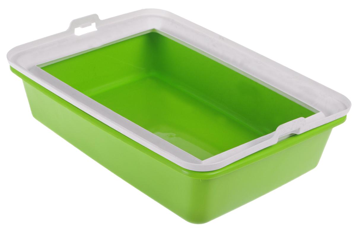 Туалет-лоток для животных MPS Hydra Mini, с рамкой, цвет: салатовый, 43 х 31 х 12 смS08010100_салатовыйТуалет-лоток для животных MPS Hydra Mini выполнен из прочного пластика. Высокие бортики и рама, прикрепленная к лотку, предотвращают разбрасывание наполнителя. Благодаря качественным материалам лоток легко убирается, быстро сохнет и не впитывает посторонние запахи.