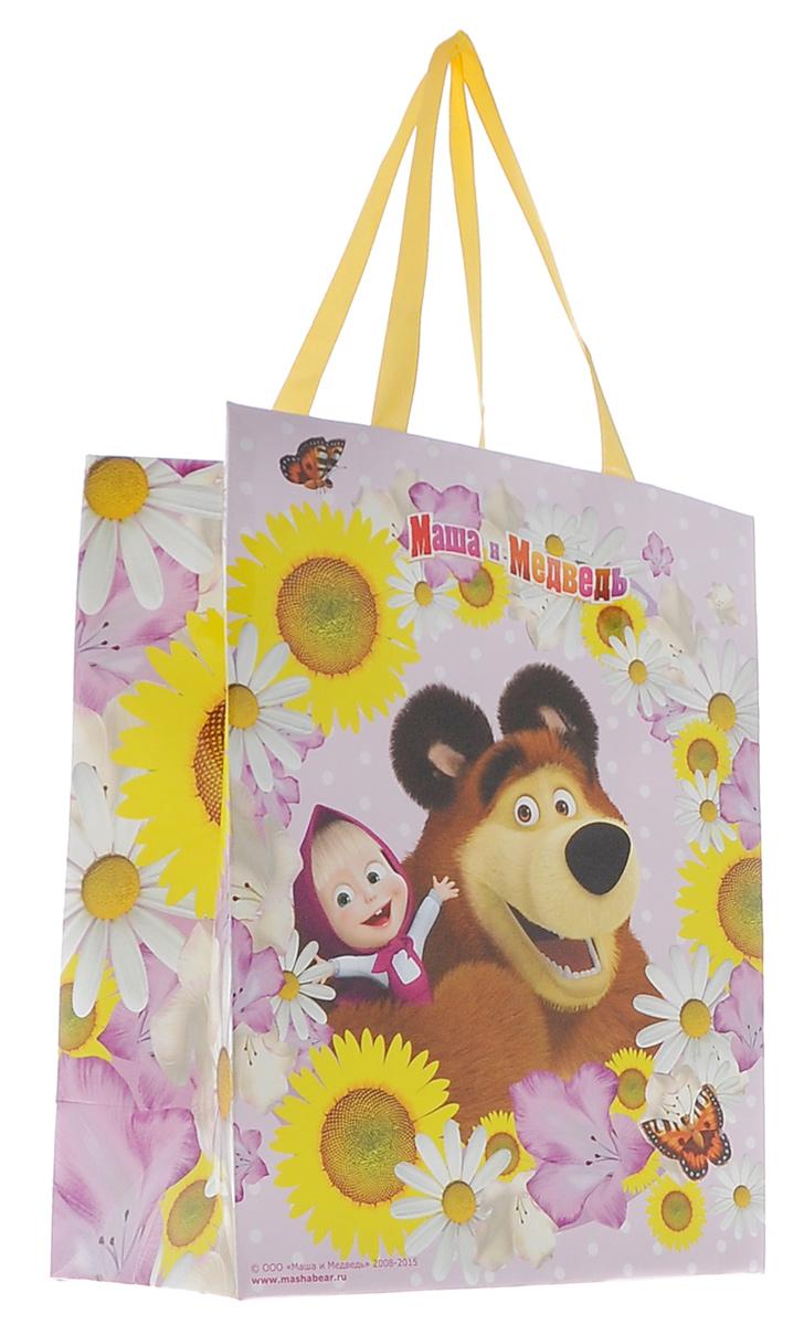 Маша и Медведь Пакет подарочный Маша летом 23 см х 18 см х 1028855Яркий подарочный пакет Маша и Медведь выполнен из плотной бумаги и оформлен ярким красочным изображением в виде Маши и медведя. Для удобной переноски на пакете имеются две атласные ручки. Подарок, преподнесенный в оригинальной упаковке, всегда будет самым эффектным и запоминающимся. Окружите близких людей вниманием и заботой, вручив презент в нарядном, праздничном оформлении.
