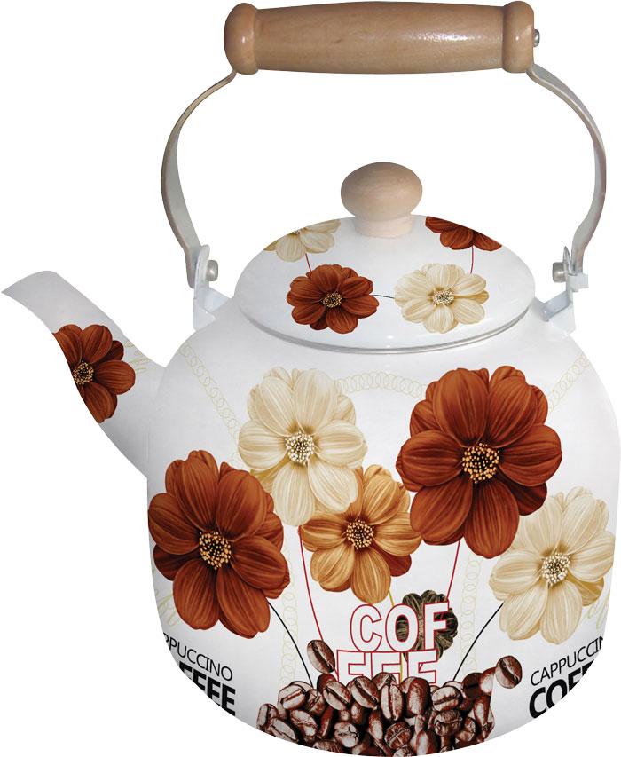 Чайник белая эмаль с декором BH - 8137/7,0л/(х8), цвет: коричневый, бежевый, белый8137BHNEW_3Чайник эмалированный белый с цветочным декором. Не нагревающаяся ручка. Объем 7,0 литра. Подходит для индукционной плиты. Можно мыть в посудомоечной машине.