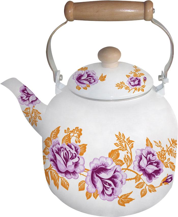 Чайник белая эмаль с декором BH - 8137/7,0л/(х8), цвет: оранжевый, сиреневый, белый8137BHNEW_4Чайник эмалированный белый с цветочным декором (4 вида). Не нагревающаяся ручка. Объем 7,0 литра. Подходит для индукционной плиты. Можно мыть в посудомоечной машине.