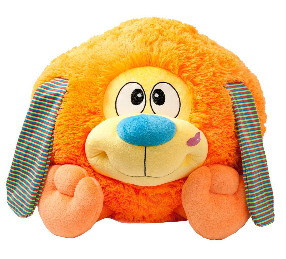 Fancy Мягкая игрушка Собачка Круглик 42 смKGB1Очаровательная мягкая игрушка Fancy Собачка Круглик, выполненная в виде жизнерадостного песика, по форме напоминающего колобка, вызовет умиление и улыбку у каждого, кто ее увидит. Удивительно мягкая игрушка принесет радость и подарит своему обладателю мгновения нежных объятий и приятных воспоминаний. Великолепное качество исполнения делает эту игрушку чудесным подарком к любому празднику. Игрушки серии «Круглики» - станут прекрасным подарком не только подросткам, но и самым маленьким. С ними можно не только играть, но и использовать как пуф.