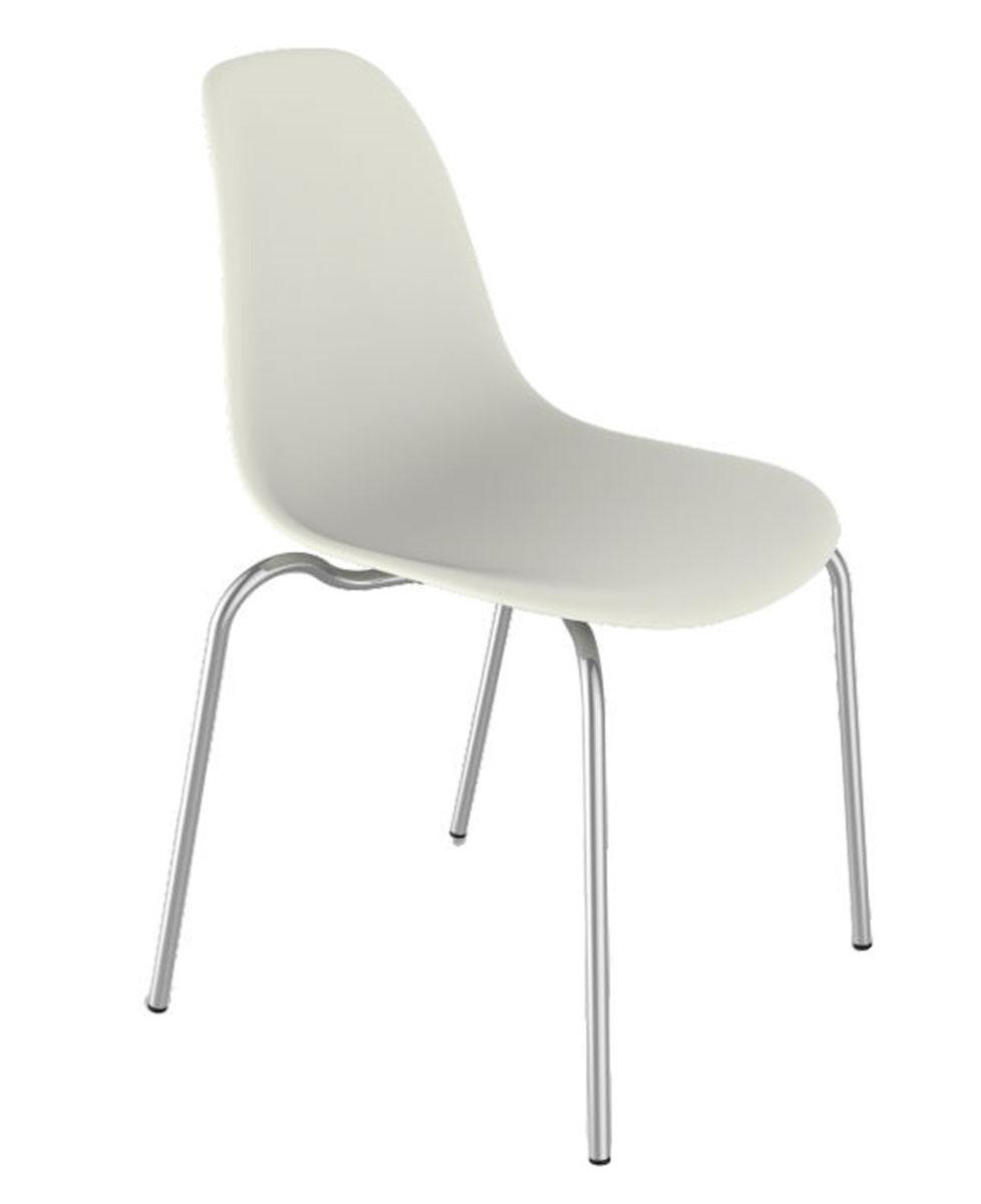 Стул Sheffilton SHT-S30белый/хром лакСТ-30Удобный пластиковый стул на металлокаркасе; - Сидение выполнено из полипропилена; - Устойчивый опоры выполнены из металлической трубы; - Можно штабелировать, что позволяет экономить место при хранении. - Металлический каркас покрыт порошковой краской устойчивой к механическому воздействию; - Оптимален с точки зрения цена/дизайн/качество; - Подходит для дома, лоджии сада, а также для кафе, баров и ресторанов; - Надежен и легок в уходе; - Практически не утрачивает внешнего вида в процессе эксплуатации; - Толщина сиденья: 7мм; - Размер сиденья: 530х460 5х460,5мм; - Высота спинки: 460,5мм.