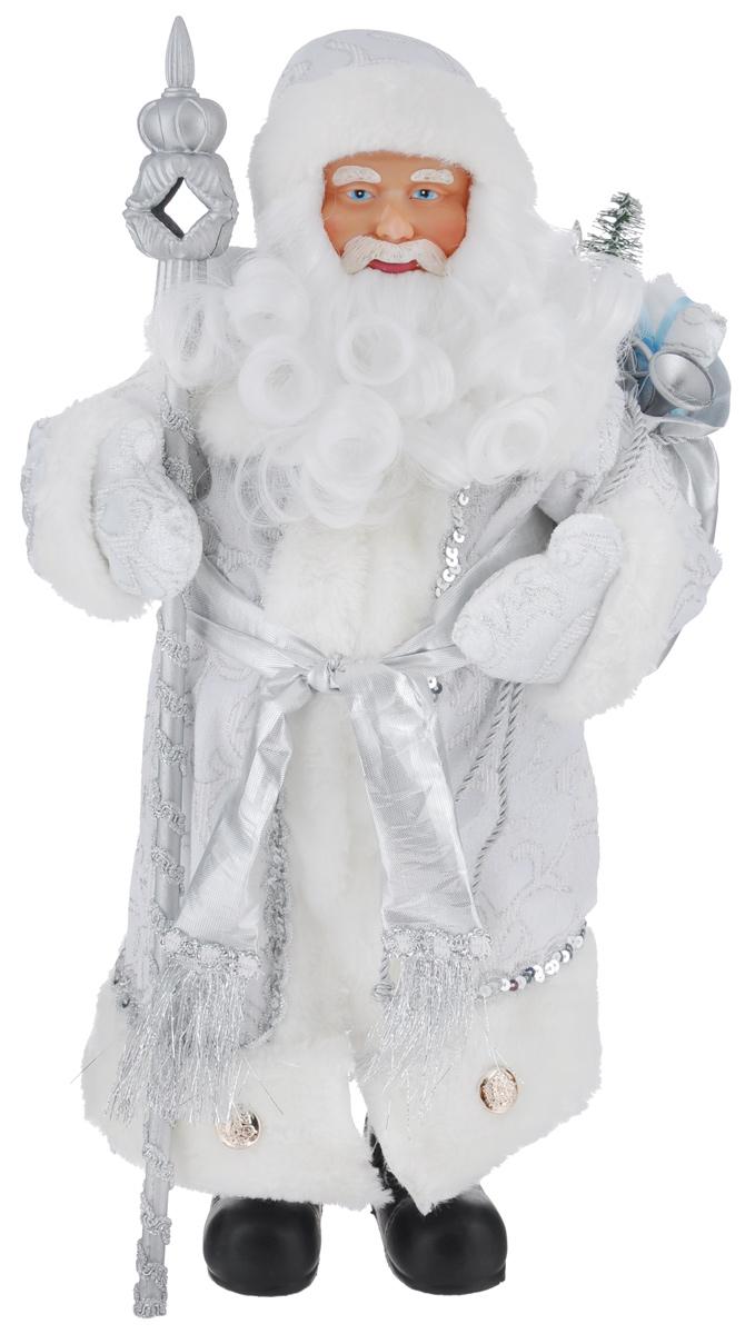 Новогодняя декоративная фигурка Феникс-презент Дед Мороз в костюме, высота 41 см39088Декоративная фигурка Феникс-презент Дед Мороз в костюме изготовлена из пластика и текстиля. Она подойдет для оформления новогоднего интерьера и принесет с собой атмосферу радости и веселья. Дед Мороз одет в белые брюки и длинную шубу с красивыми узорами, подвязанную поясом с кисточками. На голове - шапка с мехом, на ногах - черные башмачки. В руках он держит посох и мешок с подарками. Его добрый вид и очаровательная борода притягивают к себе восторженные взгляды. Коллекция декоративных украшений из серии Magic Time принесет в ваш дом ни с чем не сравнимое ощущение волшебства!