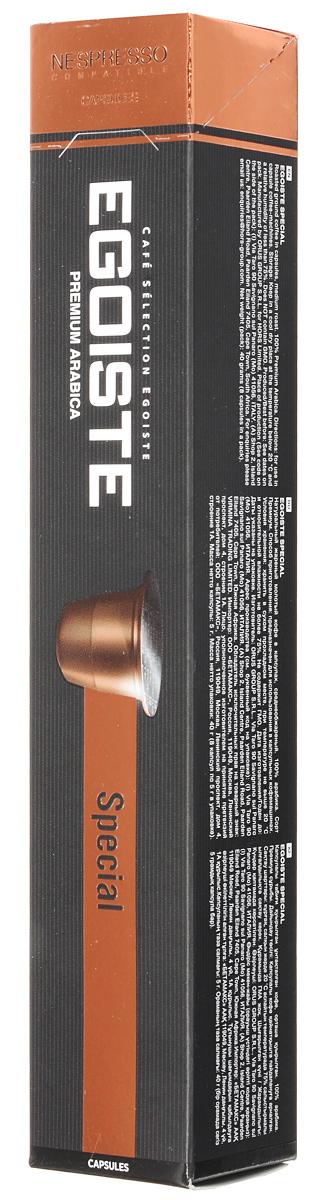 Egoiste Special кофе в капсулах, 8 шт5292726000104Egoiste Special имеет яркий насыщенный вкус южноамериканской Арабики, обработанной влажным методом. Средняя обжарка придает кофе особый характер с нотками древесного дымка.