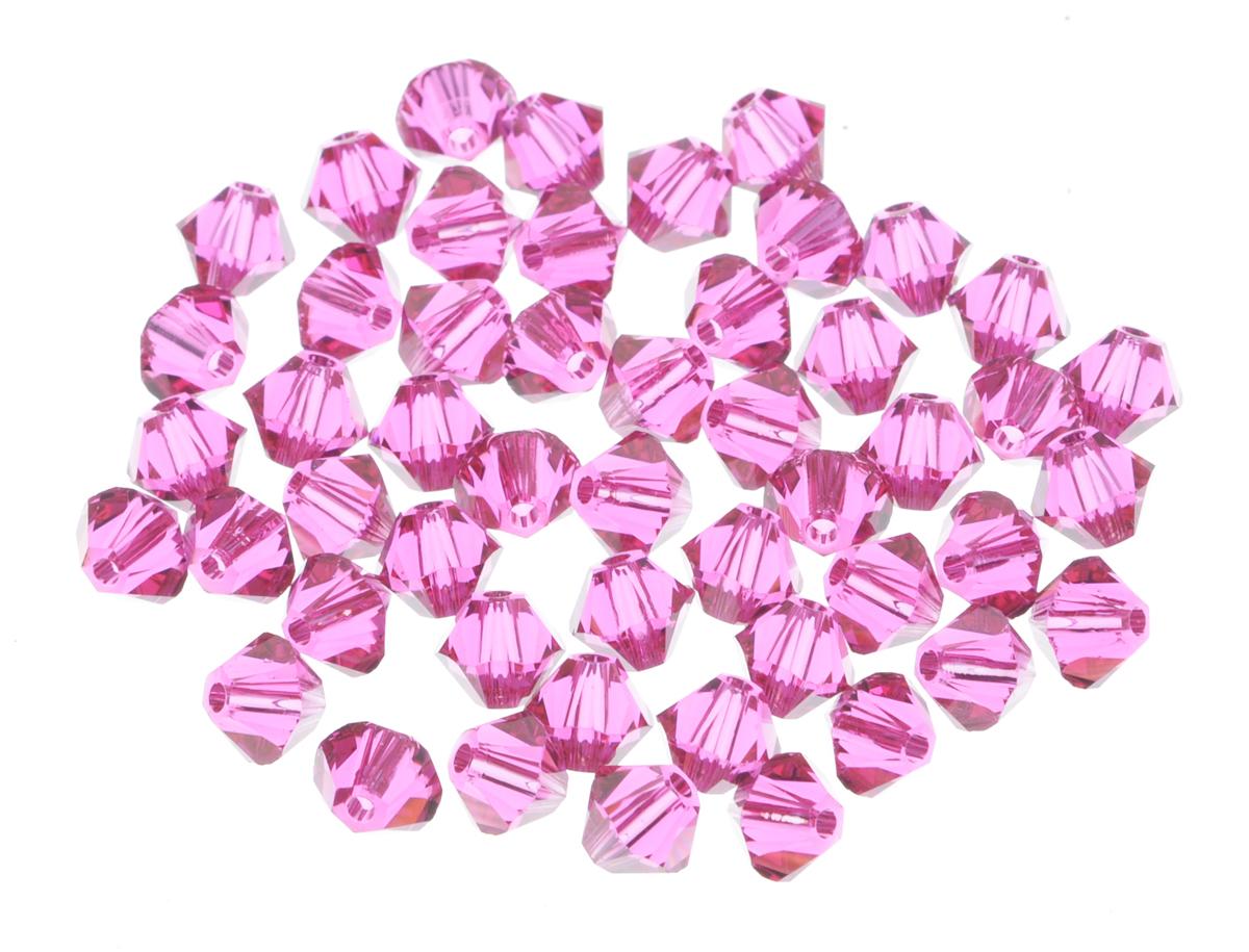 Бусины Swarovski Elements, цвет: розовый (rose), диаметр 4 мм, 50 шт