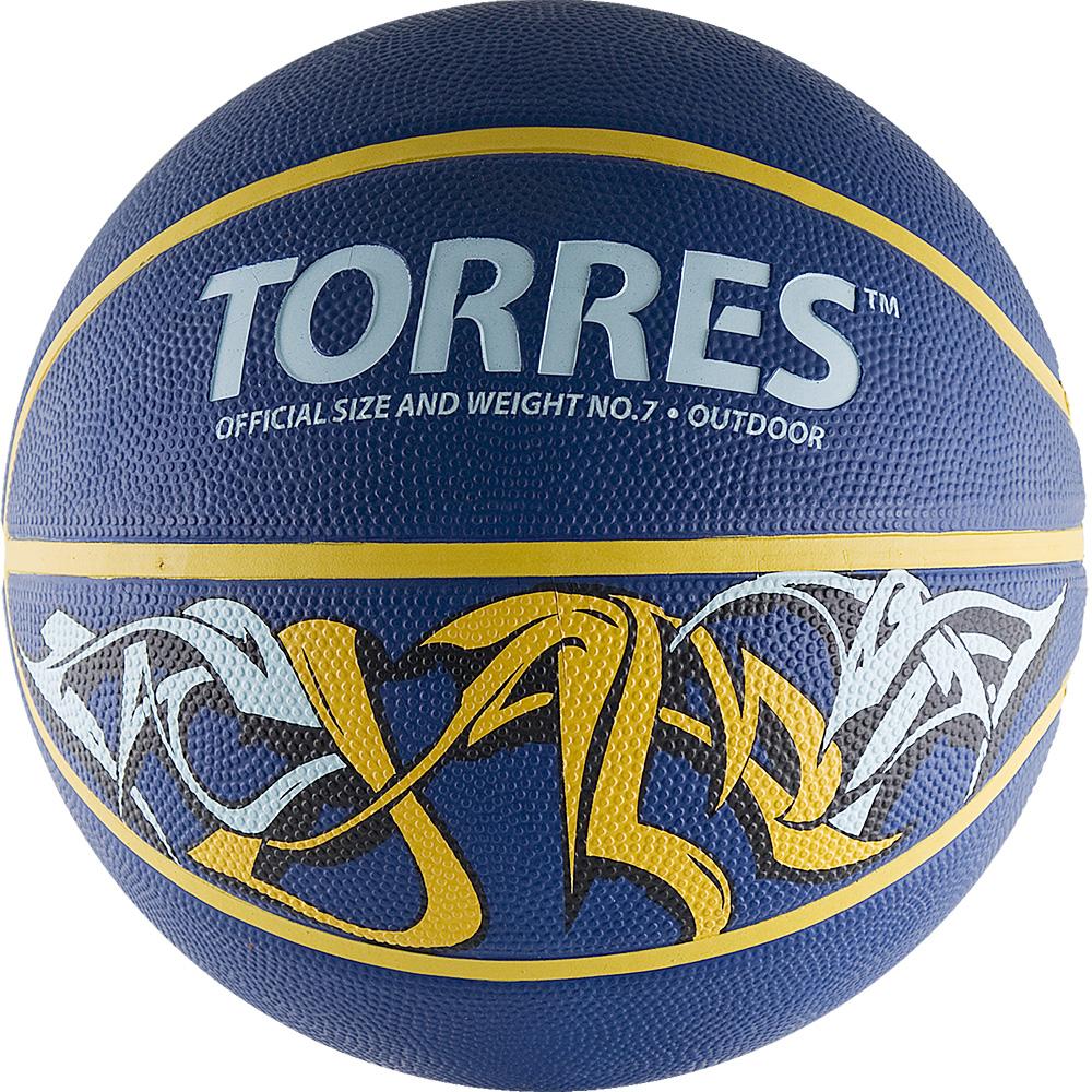 Мяч баскетбольный Torres Jam, цвет: синий, желтый, голубой. Размер 7B00047Баскетбольный мяч Torres Jam обладает ярким уличным дизайном и применяется для любительской игры, а также формирования ассортимента розничных точек продаж. Название Jam заимствовано из баскетбольной терминологии и обозначает бросок сверху. Выполнен из резины, обмотка нейлоновая. Камера выполнена из прочного бутила. Тип соединения панелей: клееный. Вес: 567-650 г. Окружность: 74,9-78 см. УВАЖЕМЫЕ КЛИЕНТЫ! Обращаем ваше внимание на тот факт, что мяч поставляется в сдутом виде. Насос не входит в комплект.