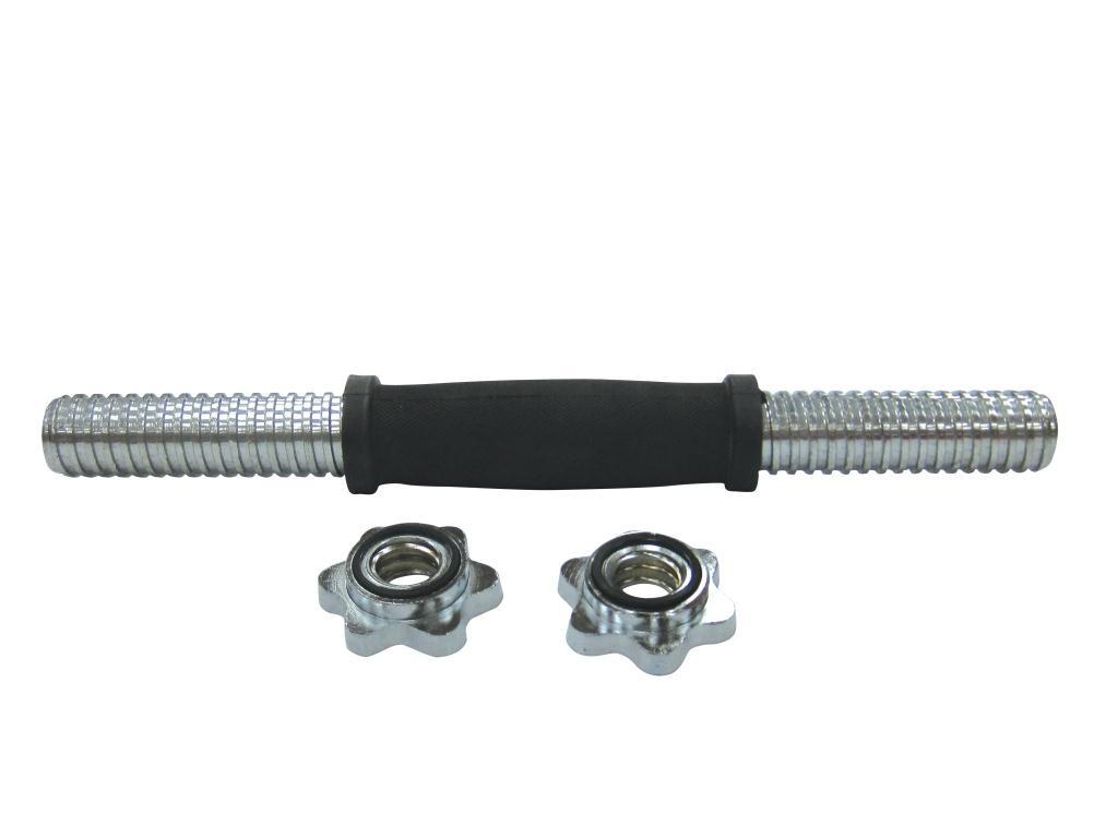 Гриф гантельный SPORT ELIT хром. d-25,4мм, L-36см с обрезиненной ручкой, H-2619 ( H-2619 )