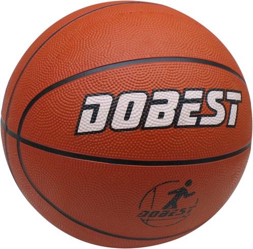 Мяч баскетбольный DOBEST, р. 7, резина, оранжевый, RB7-0886