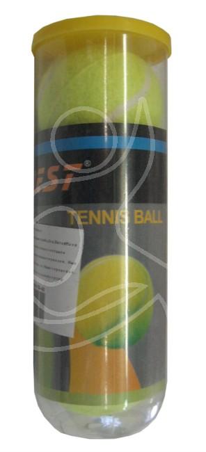 Мячи для большого тенниса DOBEST, в тубе 3шт, TB-GA02TB-02Основные характеристики Диаметр:6,35см Вес: 58,5гр Материал: фетр, каучук Цвет: желтый Комплектность: 3шт. Страна-производитель: Китай Упаковка: пластиковая туба Оптимальная сила отскока и яркий цвет обеспечивают комфортную игру, позволяя Вам полностью сосредоточится на достижении все более и более высоких спортивных результатов. Мяч разработан специально для любителей. Высококачественный фетр и усиленное ядро делают мяч более долговечным и позволяют использовать его на любом покрытии.