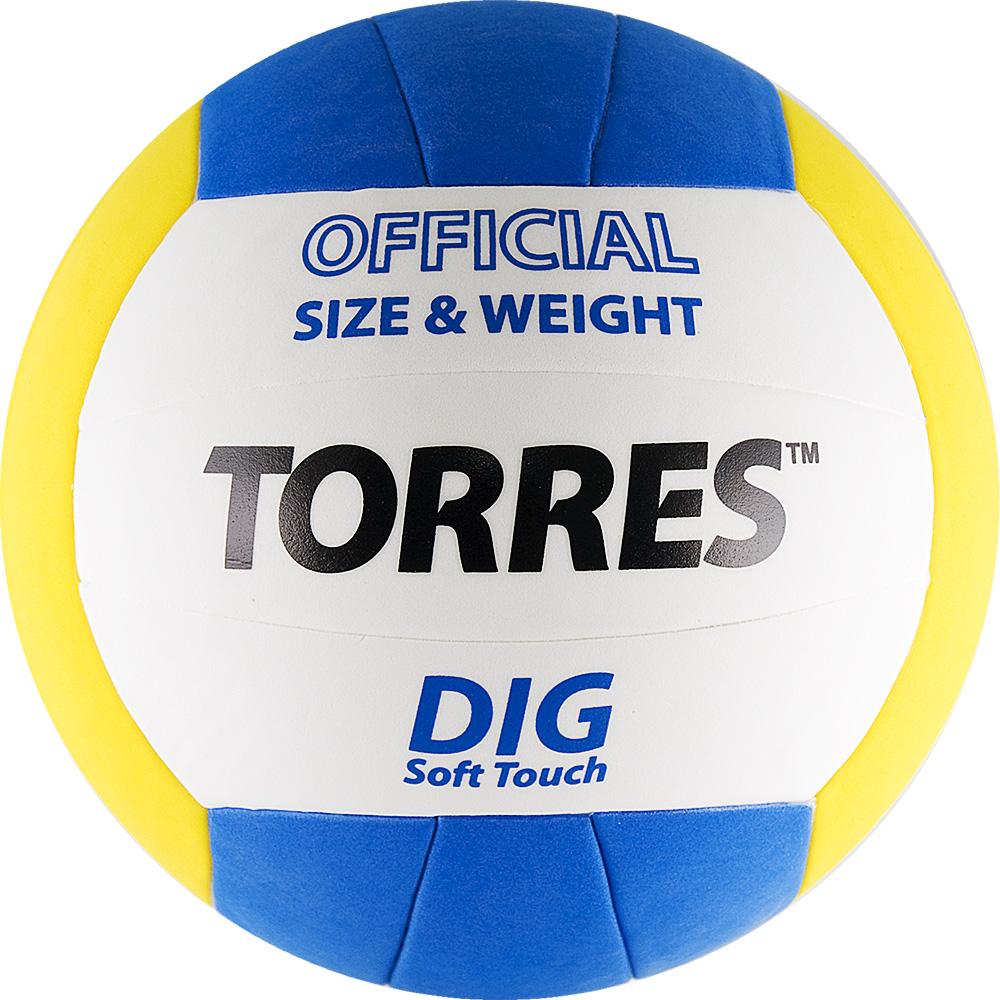 Мяч волейбольный TORRES Dig, р.5, синтетическая кожа, V20145