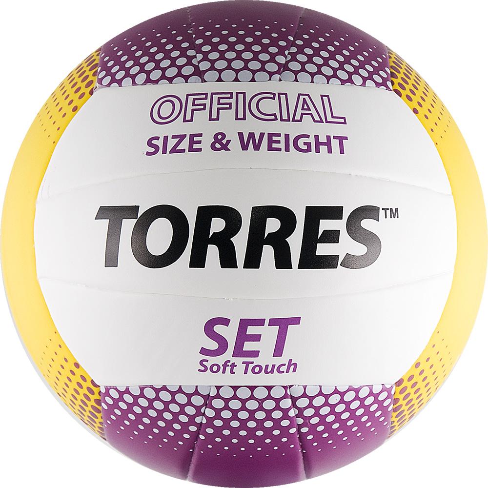 Мяч волейбольный TORRES Set, р.5, синтетическая кожа, V30045