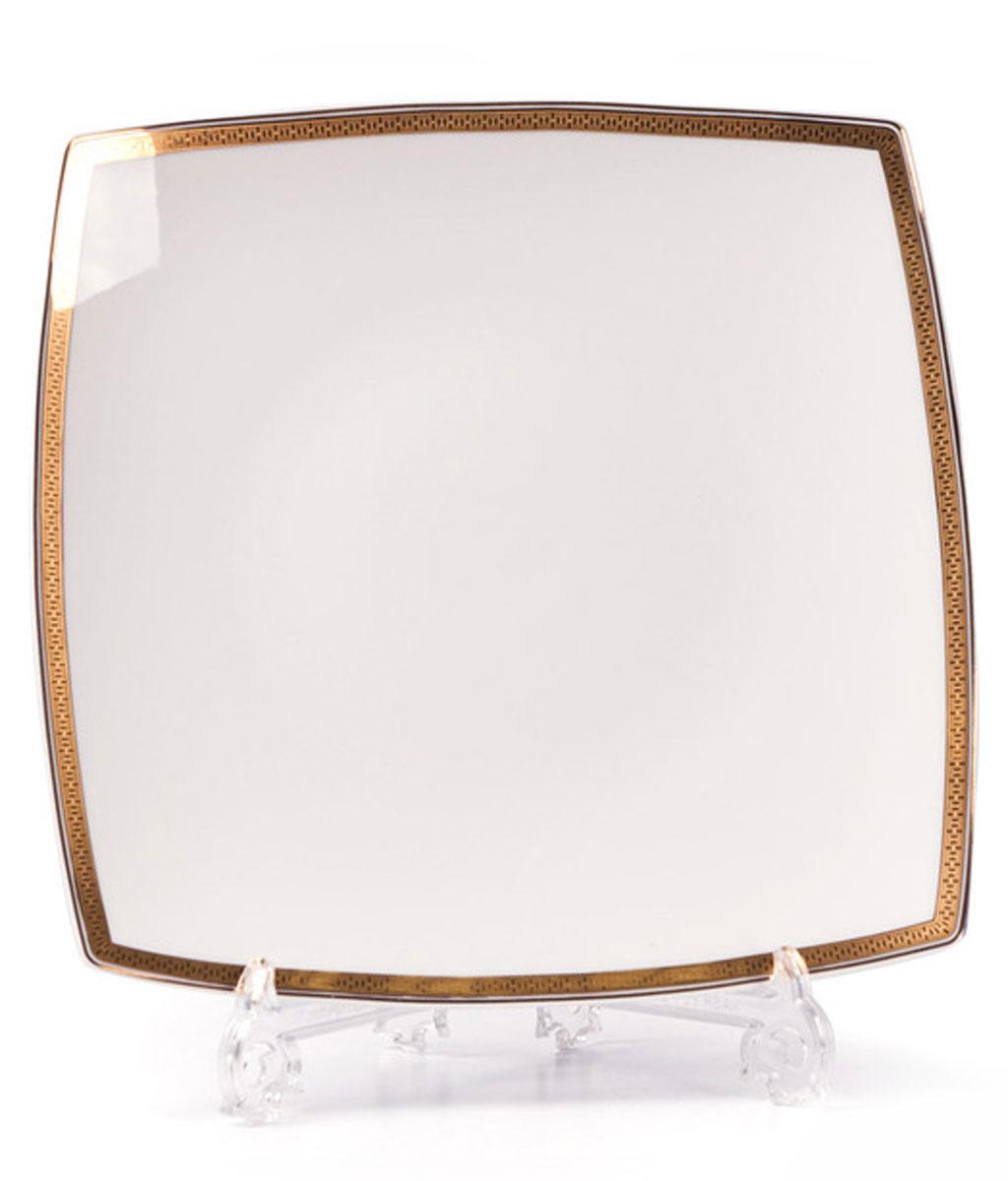 Kyoto 1555 набор тарелок для десерта, 6 шт/уп, цвет: белый с золотом719101 1555В наборе тарелка 22 см 6 штук Материал: фарфор: цвет: белый с золотом Серия: KYOTO