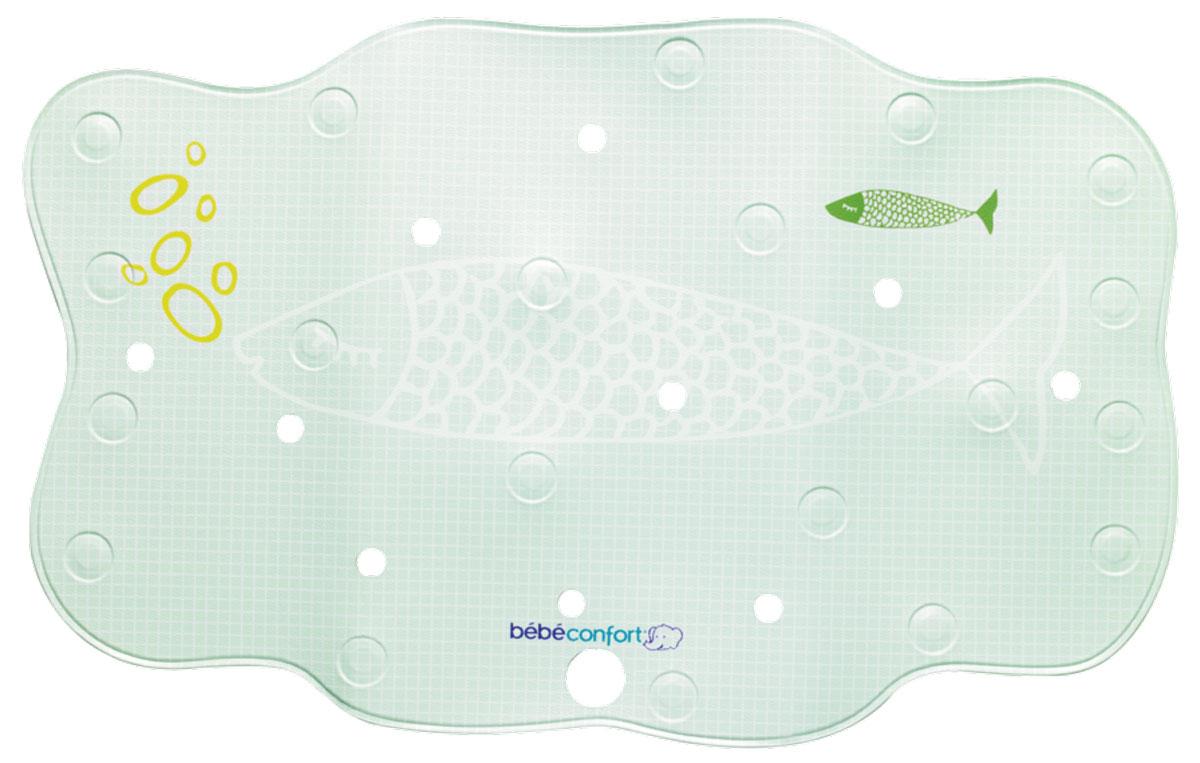 Bebe Confort Нескользящий коврик для ванны 70 см х 45 см цвет оливковый32000090_оливковыйКоврик для ванной Bebe Confort снизит риск подскальзывания и падения малыша во время водных процедур. Коврик выполнен из ПВХ имеет нескользящую поверхность и присоски. Встроенный термоиндикатор, меняющий цвет, заменит термометр и вовремя предупредит об изменении температуры воды. Коврик становится темно-синим при температуре воды 35 градусов, и меняет свой цвет, когда температура становится выше. А, кроме того, перфорация позволяет воде выходить из-под коврика, что еще надежней прикрепляет его к ванне.