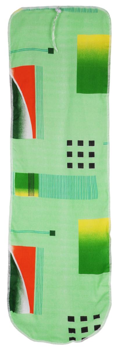Чехол для гладильной доски Eva Detalle, цвет: зеленый, 120 см х 37 см. Е1302Е1302_зеленыйЧехол для гладильной доски Eva Detalle, выполненный из хлопка с подкладкой из мягкого войлока, предназначен для защиты или замены изношенного покрытия гладильной доски. Из войлочного полотна вы можете вырезать подкладку любого размера, подходящую именно для вашей доски. Чехол препятствует образованию блеска и отпечатков металлической сетки гладильной доски на одежде. Этот качественный чехол обеспечит вам легкое глажение. Размер чехла: 120 см x 37 см. Размер войлочного полотна: 130 см х 52 см. Размер доски, для которой предназначен чехол: 115 см x 32 см.
