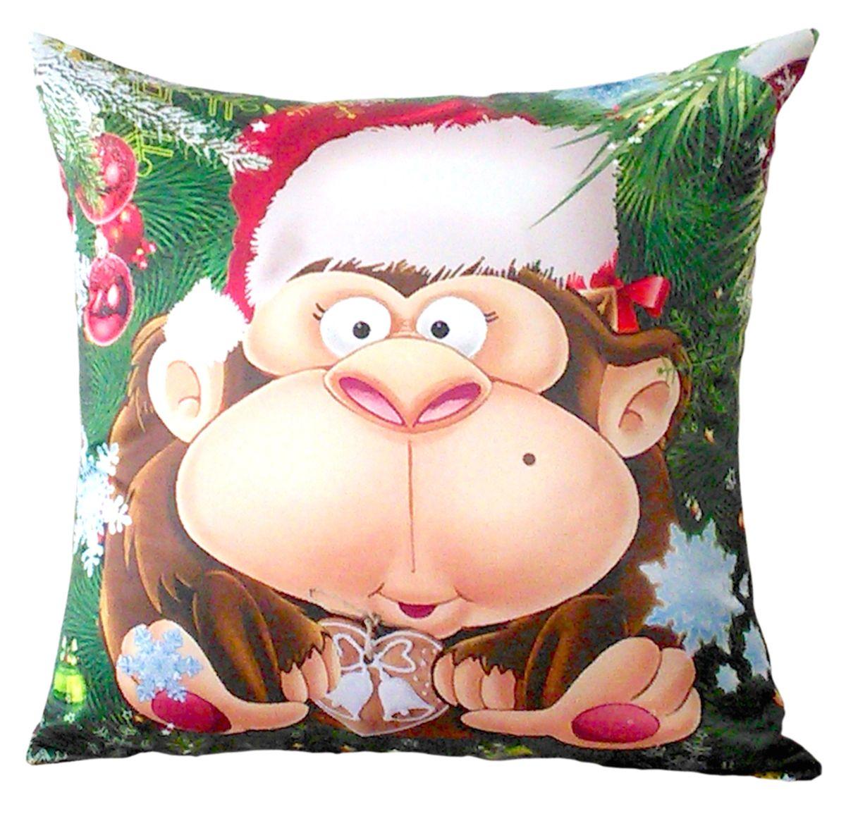 """Подушка декоративная Gift'n'Home """"Новогодняя обезьяна"""", 35 х 35 см"""