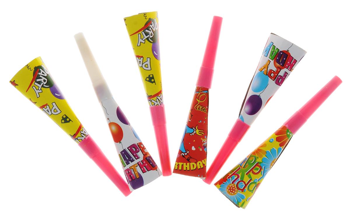 Набор карнавальных свистков Феникс-Презент Magic House, цвет: желтый, розовый, белый, 6 шт21081Яркие свистки Феникс-Презент Magic House, выполненные из картона и пластика, неотъемлемые аксессуары любого праздника. Разноцветные свистки оформлены забавными рисунками. Они добавят празднику яркости, шума и веселья. В наборе - 6 свистков. Длина свистка: 14,5 см.