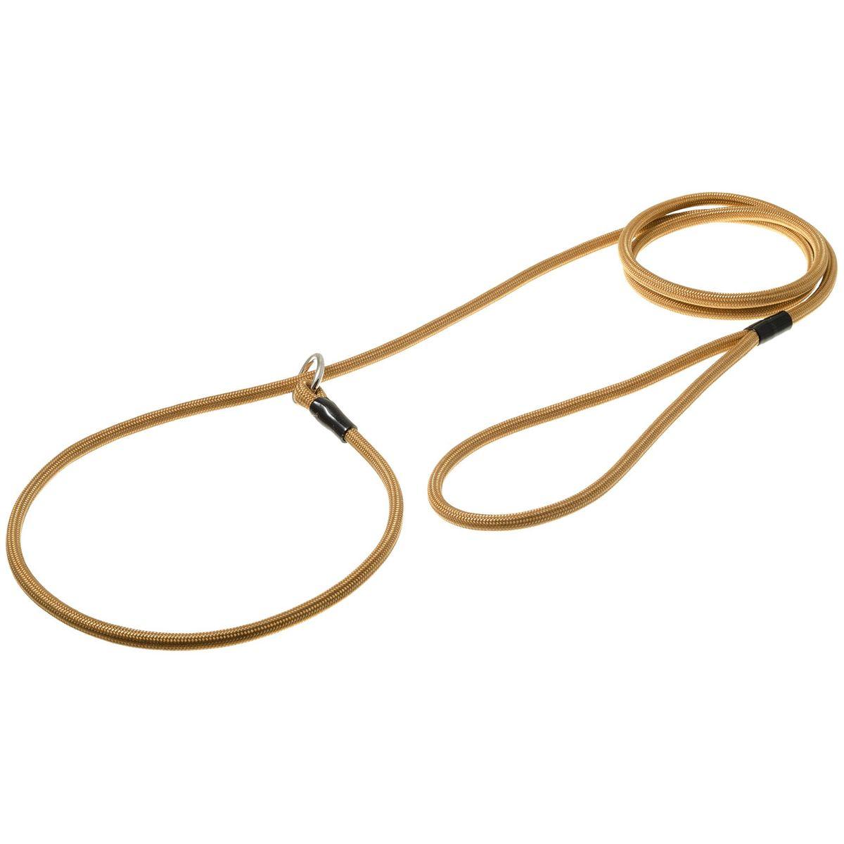 Поводок-удавка с кольцом круглый 6мм*150см (золото)74-2406