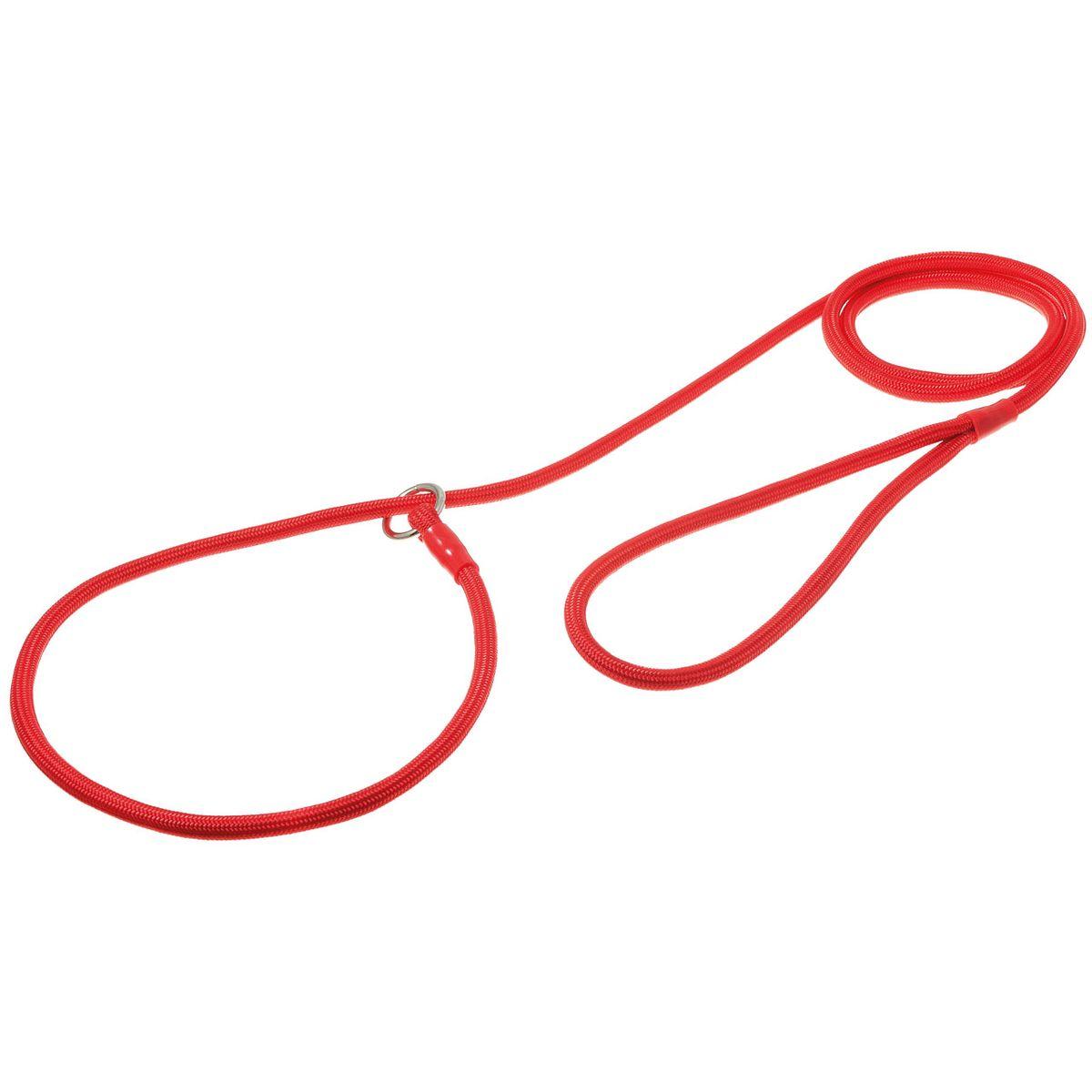 Поводок-удавка с кольцом круглый 6мм*150см (красный)74-2410
