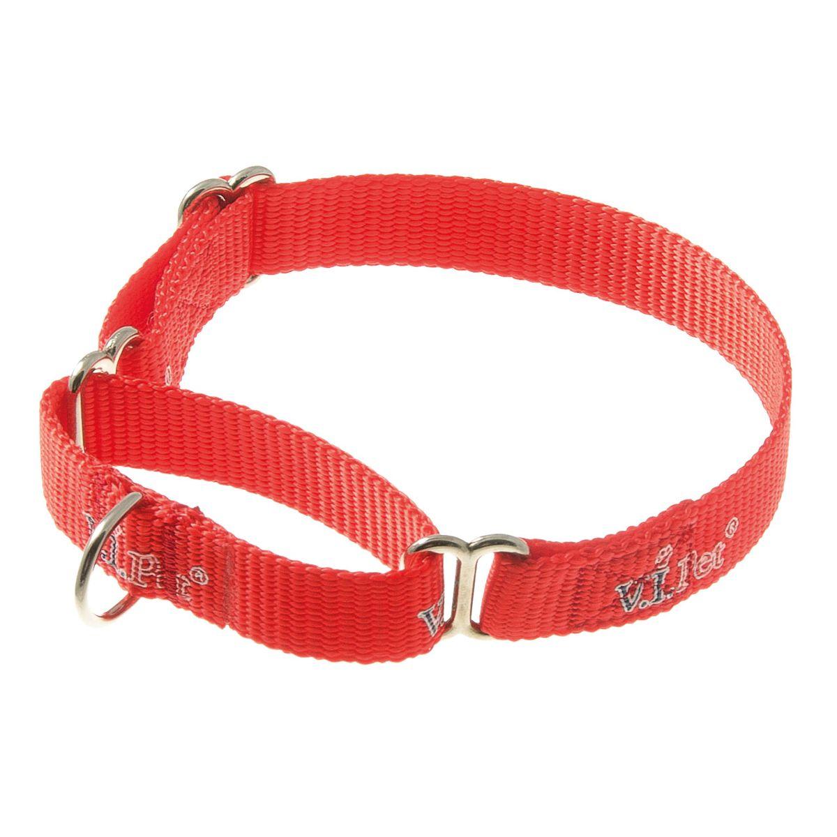 Ошейник-мартингал V.I.Pet 15мм регулир. длины (23-32см) (красный)75-2044Данный ошейник подойдет животным с окружностью шеи 20 см.