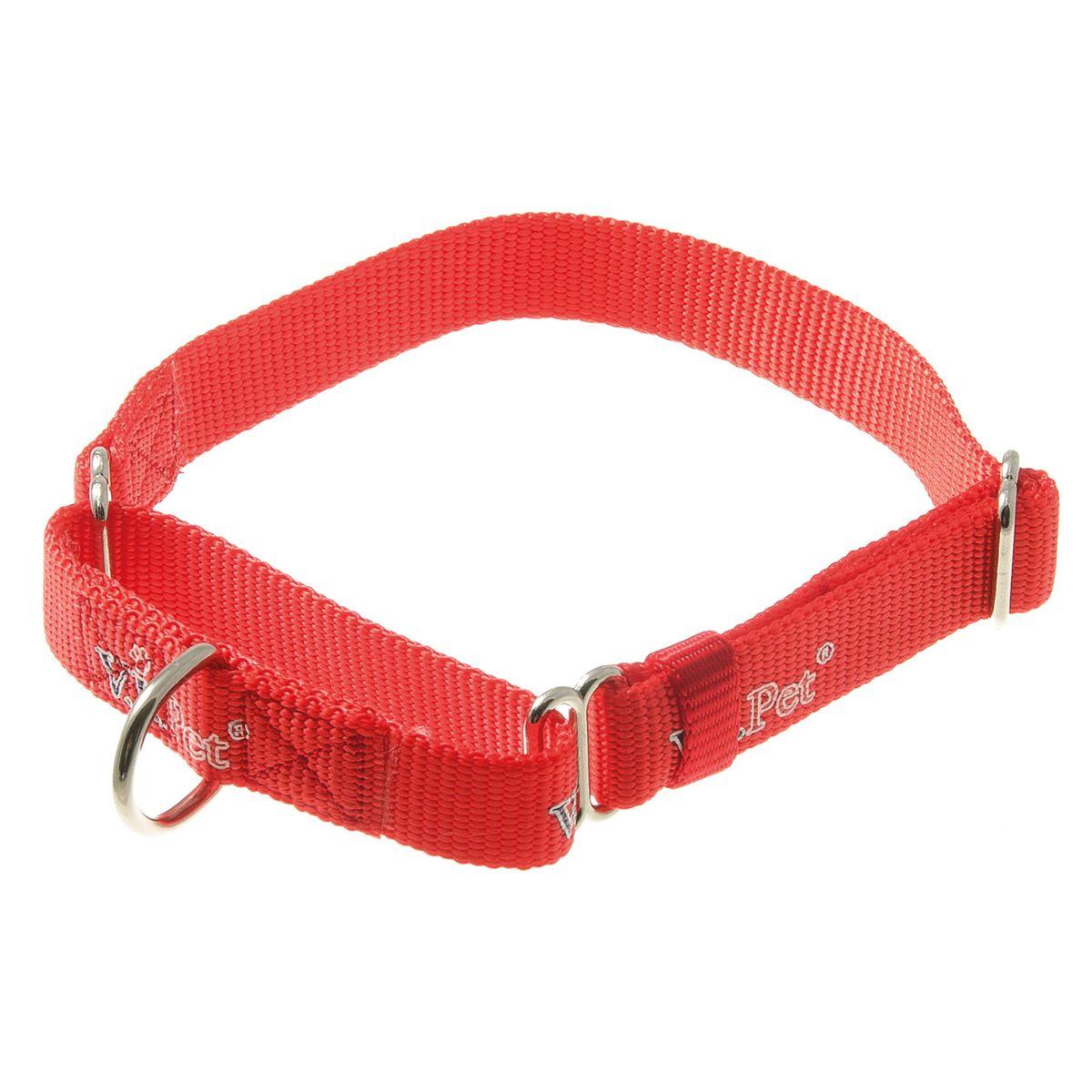 Ошейник-мартингал V.I.Pet 20мм регулир. длины (32-45см) (красный)75-2046