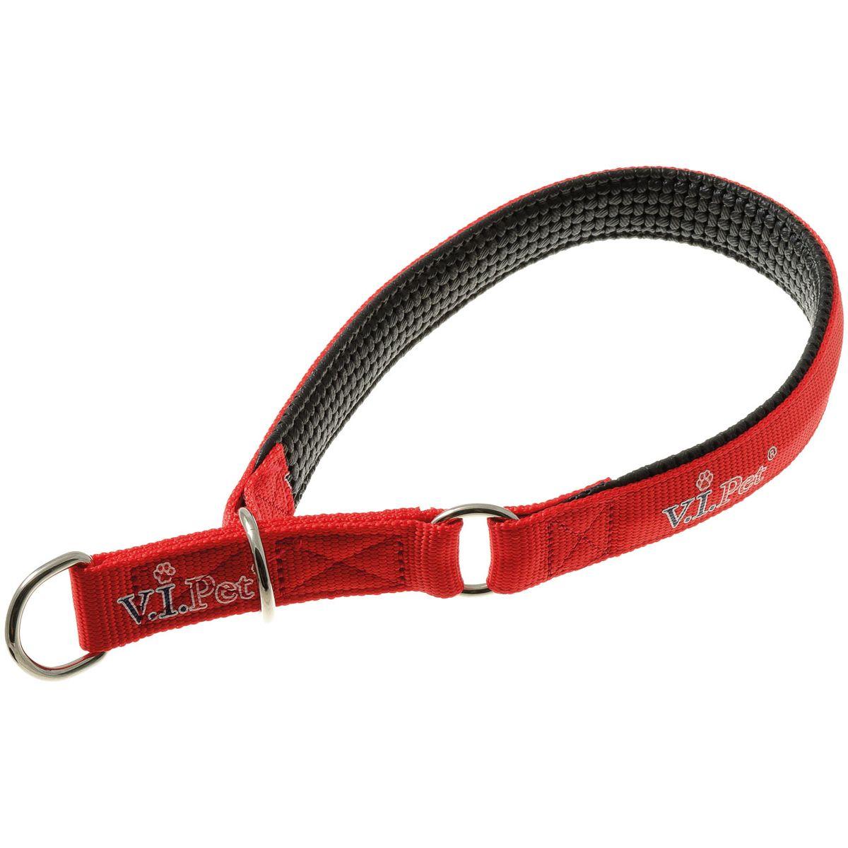 Ошейник-полуудавка с неопреновой подкладкой V.I.Pet (красный) 25мм(50-60см)75-2083