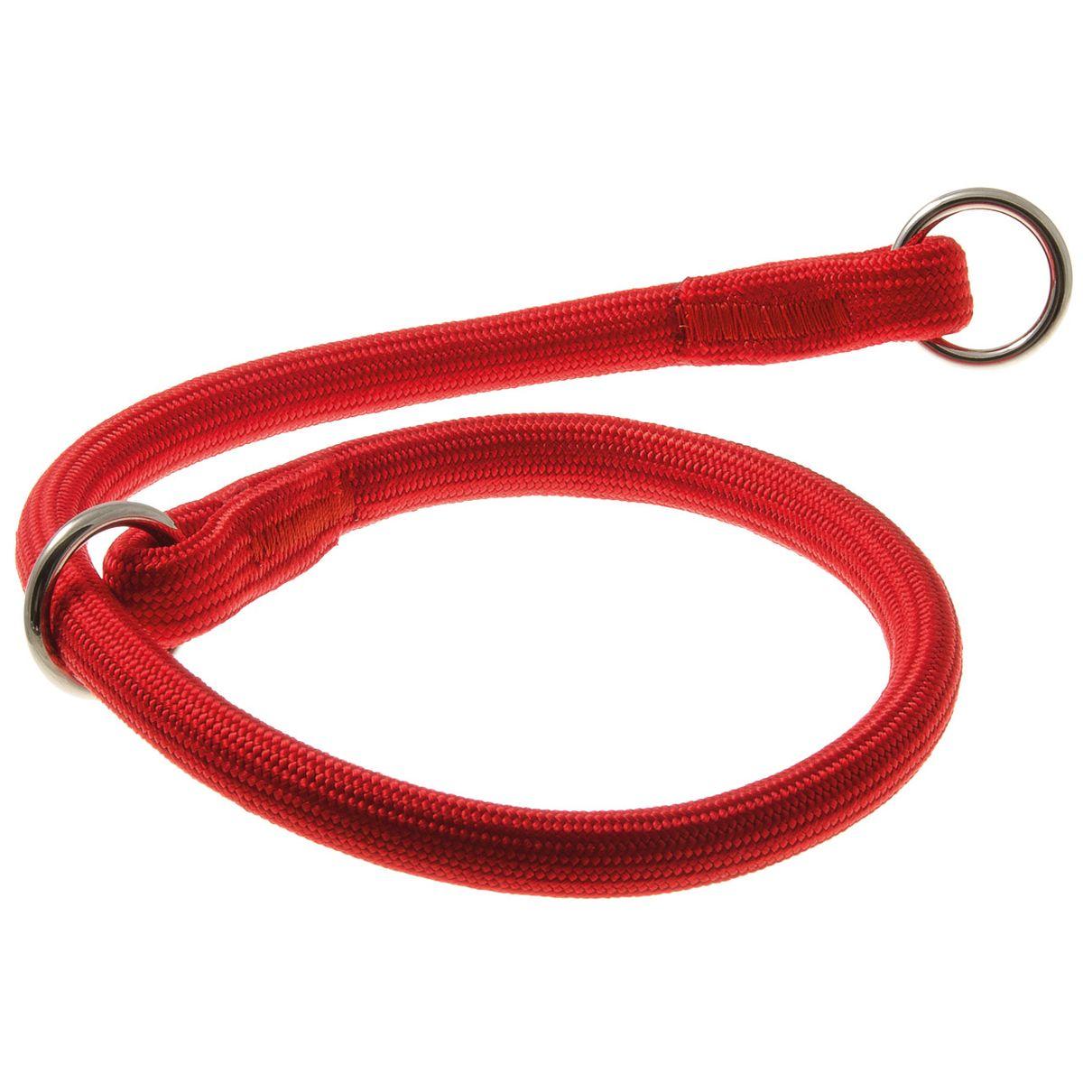 Ошейник для собак V.I.Pet, цвет: красный, диаметр 13 мм, длина 60 см76-2174Качественный ошейник V.I.Pet обладает высокой прочностью и прекрасно держит форму. Идеален для длинношерстных пород, так как имеет круглое сечение, шерсть не сминается и не скатывается. Выполняет роль дрессировочного ошейника, с его помощью вы сможете научить питомца командам и корректировать его поведение. Может служить выставочным ошейником.