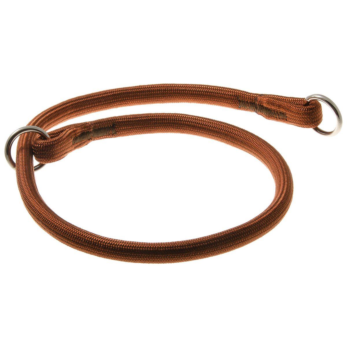 Ошейник-удавка с 2-я кольцами круглый 13 мм*80 см (коричневый)76-2185