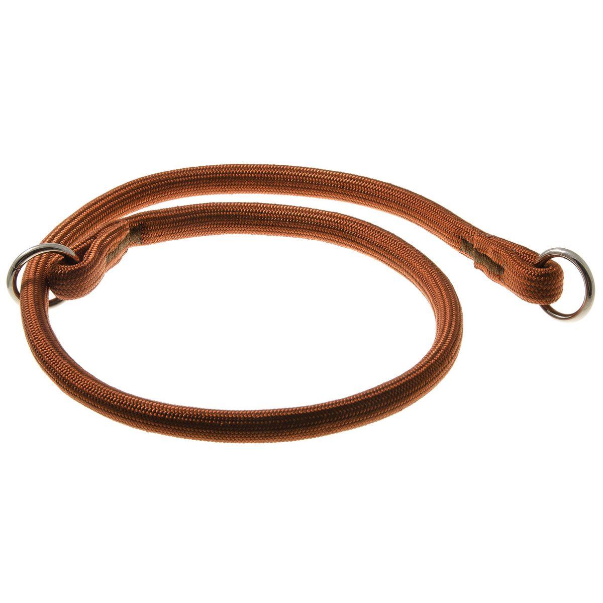 Ошейник-удавка с 2-я кольцами круглый 13 мм*90 см (коричневый)76-2191
