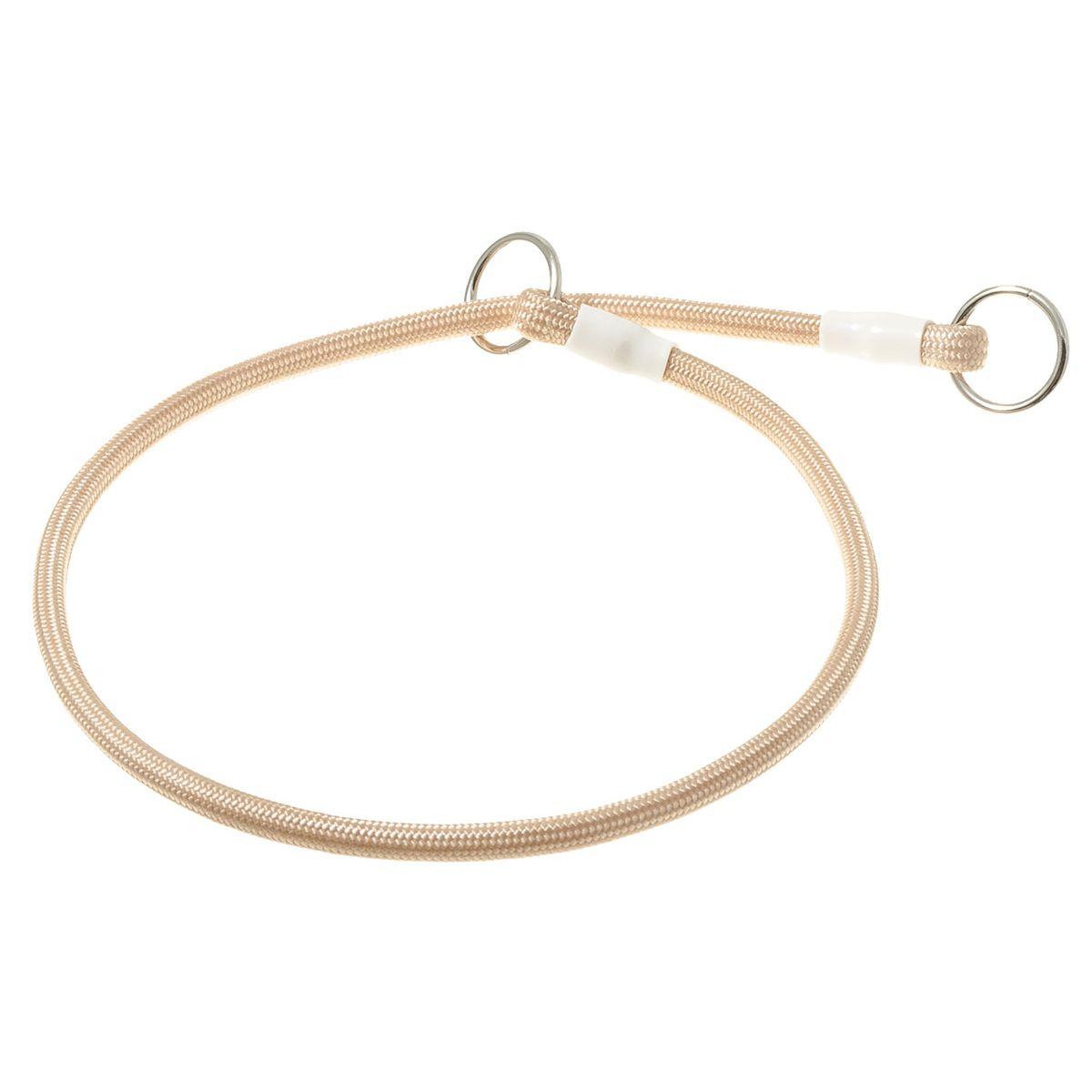 Ошейник-удавка с 2-я кольцами круглый 6мм*50см (слоновая кость)76-2227