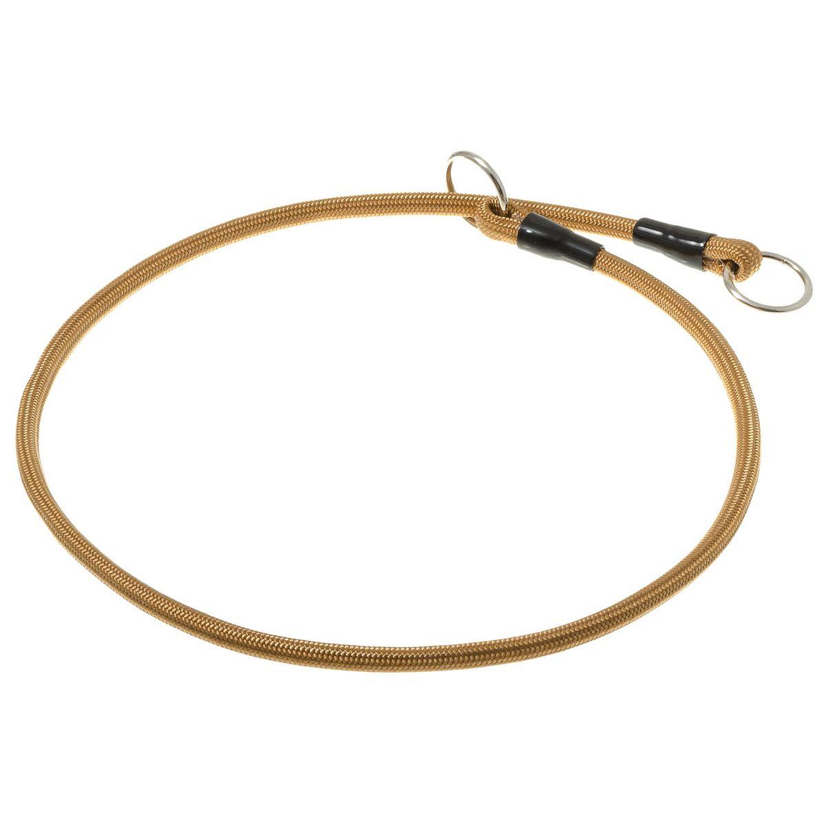 Ошейник-удавка с 2-я кольцами круглый 6мм*60см (золото)76-2237