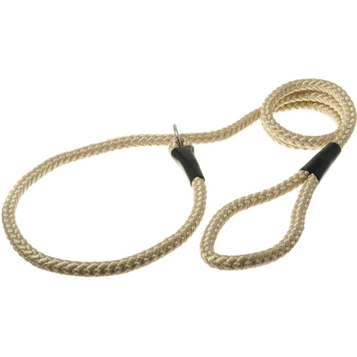 Поводок-удавка с кольцом нейлоновый канат 12мм*170см (кэмел)PDE1268C