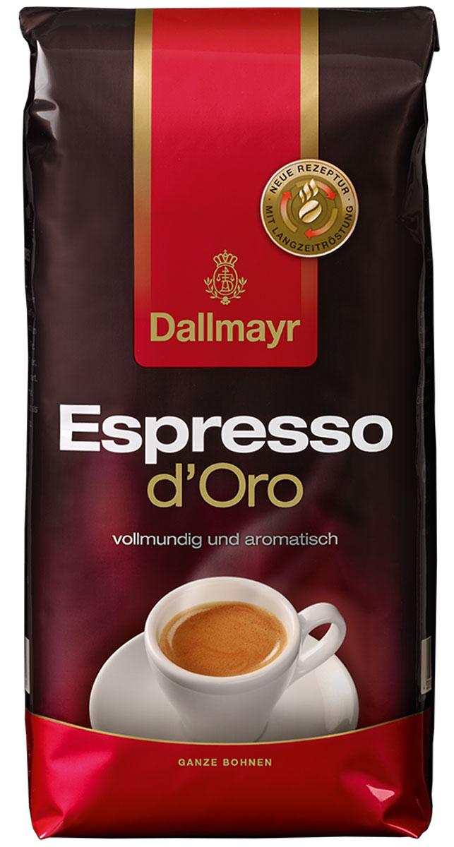 Dallmayr Esspresso dOro кофе в зернах, 1 кг546000000Dallmayr Esspresso dOro - тонкая изысканная композиция зерен с лучших высокогорных плантаций мира. Обладает неповторимым ароматом и нежной пенкой.