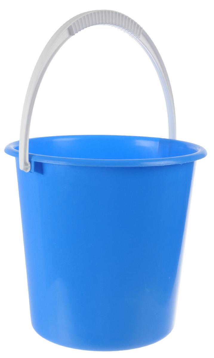 Ведро Альтернатива Крепыш, цвет: голубой, 10 лК117_голубойВедро Альтернатива Крепыш, изготовленное из высококачественного одноцветного пластика, оснащено удобной ручкой. Оно легче железного и не подвергается коррозии. Такое ведро станет незаменимым помощником в хозяйстве. Диаметр (по верхнему краю): 28 см. Высота: 27 см.