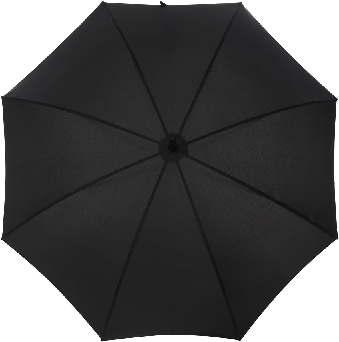 Зонт-трость мужской Fulton, полуавтомат, цвет: черный. G813G813Стильный зонт-трость Fulton выполнен из стали, полиэстера и дерева и оснащен полуавтоматическим механизмом сложения. Изделие оформлено символикой бренда. Каркас зонта состоит из восьми двойных спиц. Купол изделия выполнен из высококачественного полиэстера. Рукоятка, разработанная с учетом требований эргономики, выполнена из натурального дерева. Такой зонт не только надежно защитит вас от дождя, но и станет стильным аксессуаром, который идеально завершит образ.