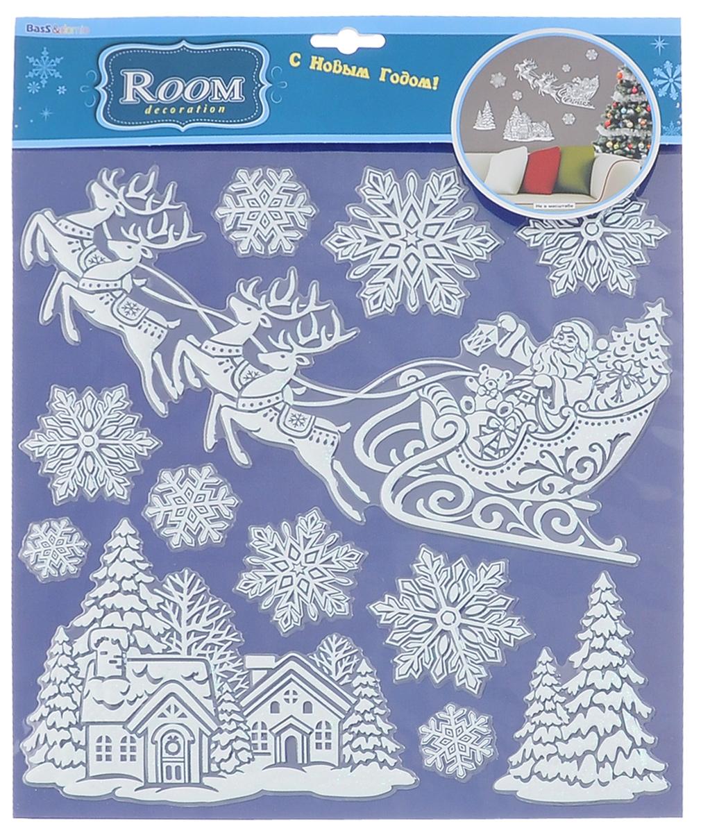 Наклейки для интерьера Room Decoration Спешащий Дед Мороз, объемныеPSX2802Наклейки для стен и предметов интерьера Room Decoration Спешащий Дед Мороз, изготовленные из самоклеящейся виниловой пленки, помогут украсить дом к предстоящим праздникам. Наклейки дадут вам вдохновение, которое изменит вашу жизнь и поможет погрузиться в мир ярких красок, фантазий и творчества. Для вас открываются безграничные возможности придумать оригинальный дизайн и придать новый вид стенам и мебели. Наклейки абсолютно безопасны для здоровья. Они быстро и легко наклеиваются на любые ровные поверхности: стены, окна, двери, стекла, мебель. При необходимости удобно снимаются, не оставляют следов. Наклейки Room Decoration Спешащий Дед Мороз помогут вам изменить интерьер вокруг себя: в детской комнате и гостиной, на кухне и в прихожей, витрину кафе и магазина, детский садик и офис. Размер листа: 30,5 см х 31,5 см. Количество наклеек на листе: 12 шт. Размер самой большой наклейки: 29 см х 16 см. Размер самой маленькой наклейки:...