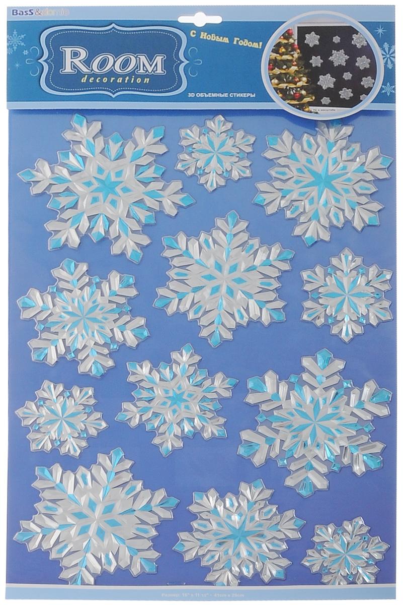 Наклейки для интерьера Room Decoration Хрустальные снежинки, объемные, 41 см х 29 смPOX2310Наклейки для стен и предметов интерьера Room Decoration Хрустальные снежинки, изготовленные из экологически безопасной самоклеящейся виниловой пленки - это удивительно простой и быстрый способ оживить интерьер помещения. На одном листе расположены 12 объемных наклеек в виде снежинок. Интерьерные наклейки дадут вам вдохновение, которое изменит вашу жизнь и поможет погрузиться в мир ярких красок, фантазий и творчества. Для вас открываются безграничные возможности придумать оригинальный дизайн и придать новый вид стенам и мебели. Наклейки абсолютно безопасны для здоровья. Они быстро и легко наклеиваются на любые ровные поверхности: стены, окна, двери, стекла, мебель. При необходимости удобно снимаются, не оставляют следов и не повреждают поверхность (кроме бумажных обоев). Наклейки Room Decoration Хрустальные снежинки помогут вам изменить интерьер вокруг себя: в детской комнате и гостиной, на кухне и в прихожей, витрину кафе и магазина, детский садик и ...