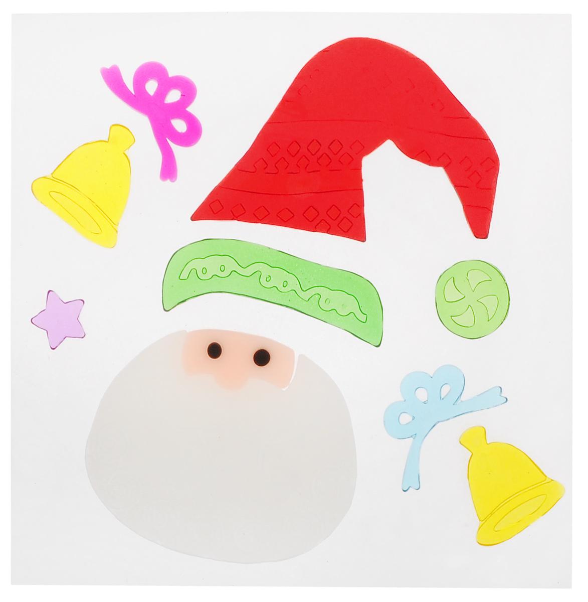 Новогоднее оконное украшение EuroHouse Аппликация. Санта, 9 штЕХ 9122Новогоднее оконное украшение EuroHouse Аппликация. Санта поможет украсить дом к предстоящим праздникам. Наклейки изготовлены из термопластика и выполнены в виде колокольчиков, колпака и лица Санта-Клауса, звезды. С помощью этих украшений вы сможете оживить интерьер по своему вкусу, наклеить их на окно или на зеркало. Новогодние украшения всегда несут в себе волшебство и красоту праздника. Создайте в своем доме атмосферу тепла, веселья и радости, украшая его всей семьей. Размер самой большой наклейки: 9,2 см х 7,5 см. Размер самой маленькой наклейки: 2 см х 2 см.