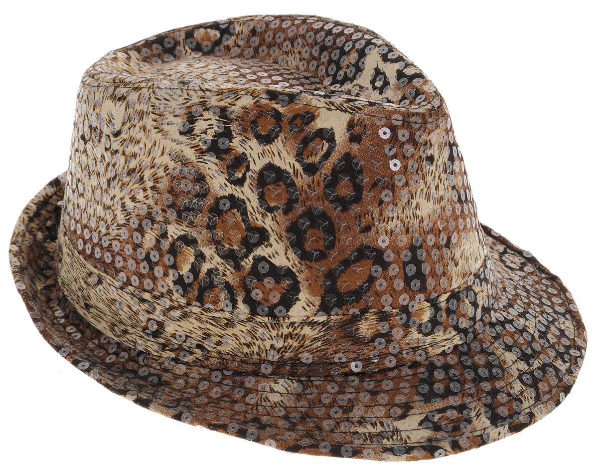 Шляпа маскарадная Феникс-Презент26896Маскарадная шляпа Феникс-Презент, выполненная из высококачественного полиэстера, имеет жесткую форму. Шляпа оформлена оригинальной расцветкой и украшена пайетками. Если у вас намечается веселая вечеринка или маскарад, то такая шляпа легко поможет создать праздничный наряд. Внесите нотку задора и веселья в ваш праздник. Веселое настроение и масса положительных эмоций вам будут обеспечены! Обхват головы: 59-60 см.